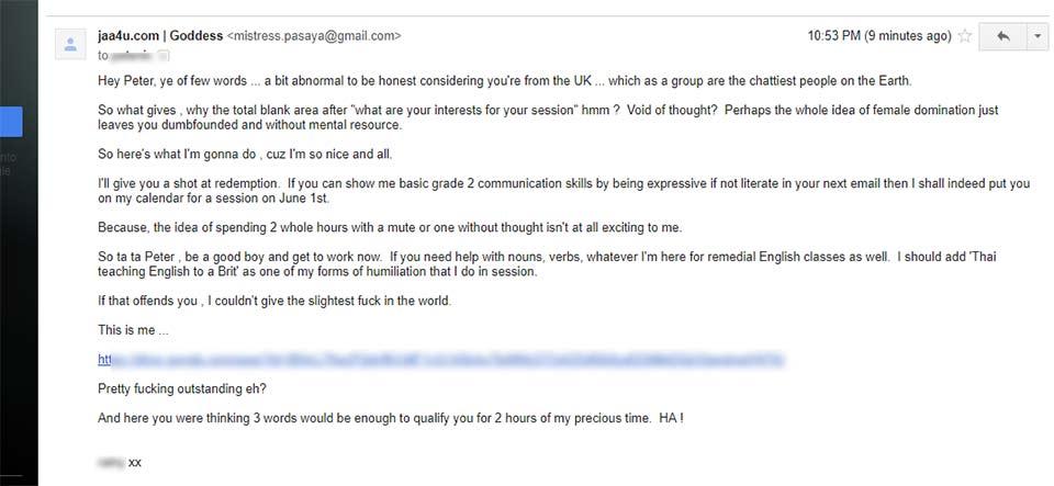 brit guy femdom session email