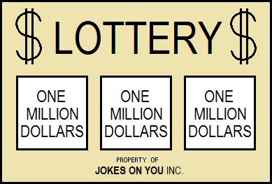 fake lottery ticket