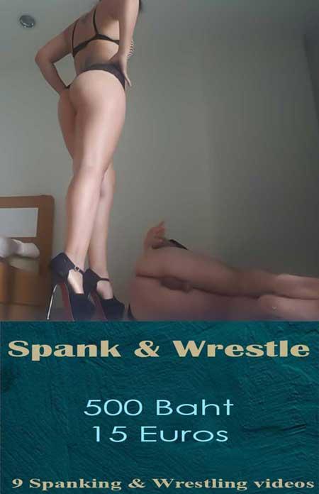 spanking wrestling femdom videos