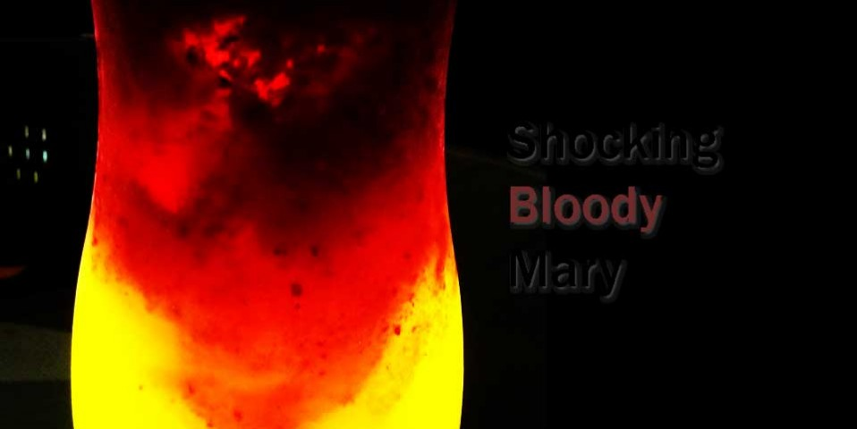 piss drinking , shocking bloody mary