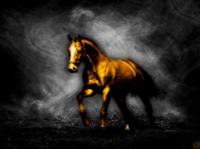 golden horse shits silver bricks femdom