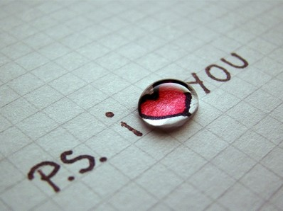 """P.S. : """"i love you"""""""