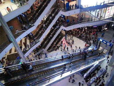 terminal 21 escalator