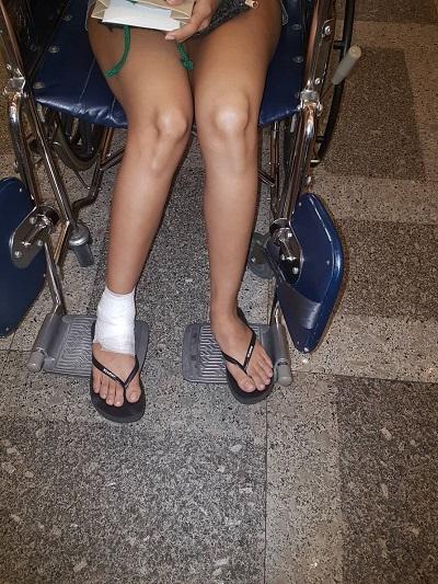 wheelchair foot