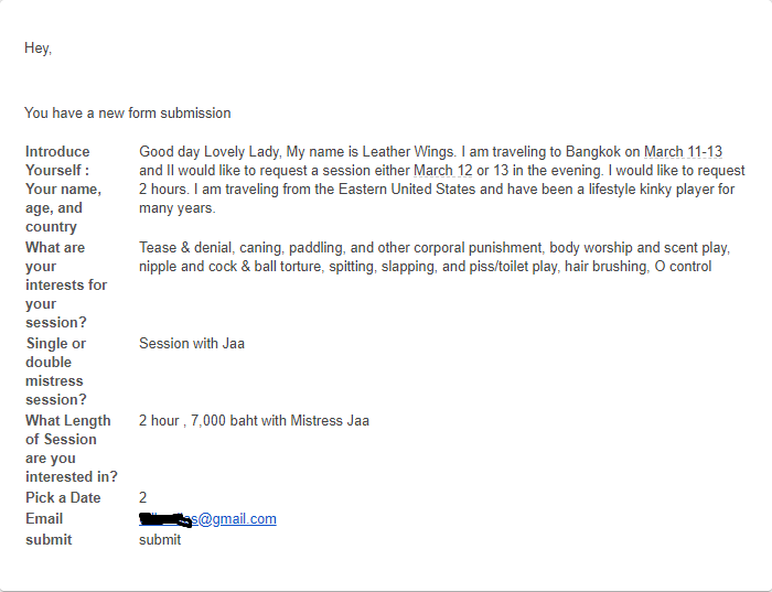 femdom email for mistress